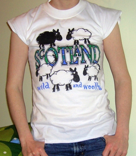 Scotland wild and woolly t-shirt