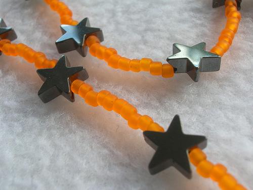 Handmade beaded star necklace for Halloween