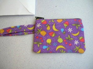 R's pouch outside