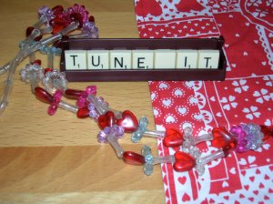scrabble and bead necklace