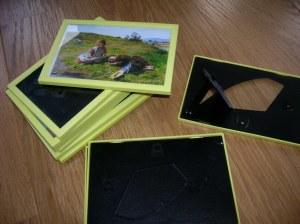 yellow ikea frames