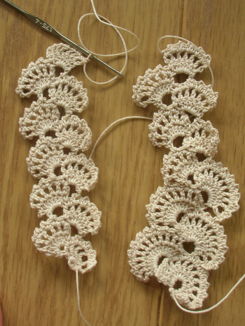Crochet lace swatching Riotflowers Realm