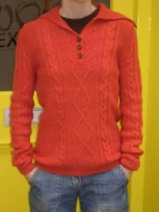 new orange sweater