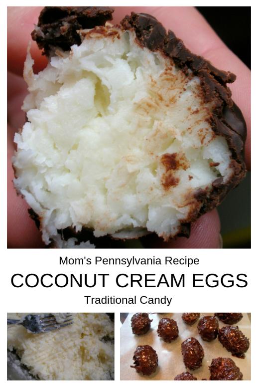Traditional chocolates: coconut cream eggs. My mom's Pennsylvania recipe