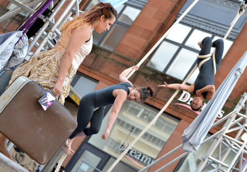 Performers at Merchant City Festival, Glasgow