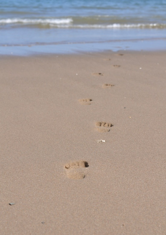 footprints in Sand. Wales..jpg