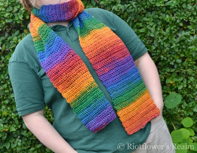 Warmth and Sunshine for Winter: Crochet Scarf. Riotflower's Realm