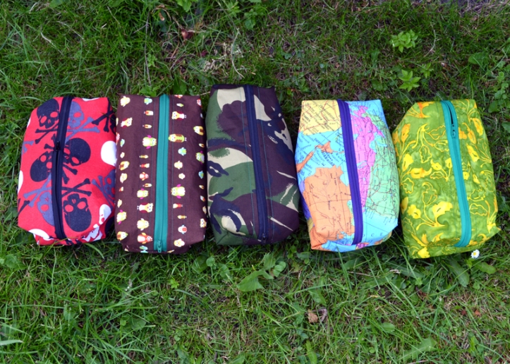 Toiletry bags sewn for Christmas