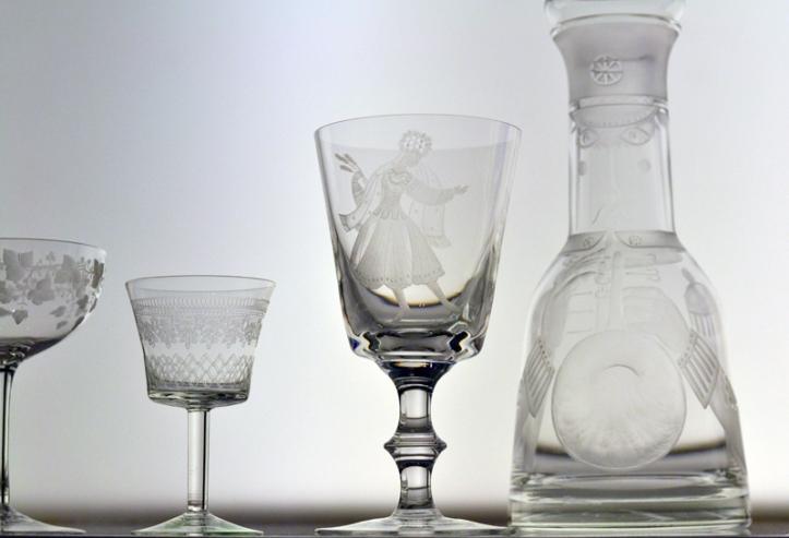 Crystal glasses at Kelvingrove