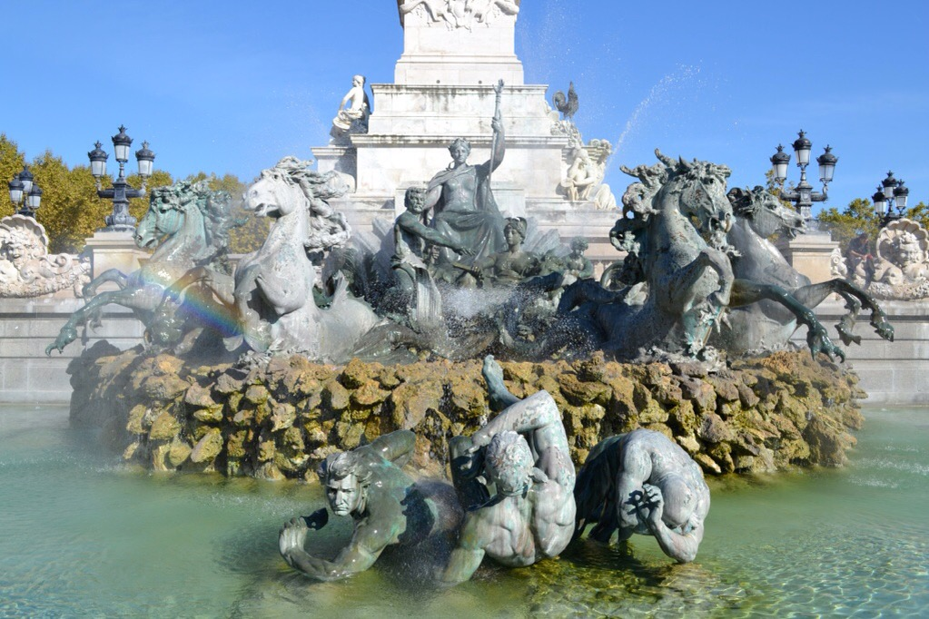 Fountain in Bordeaux, France