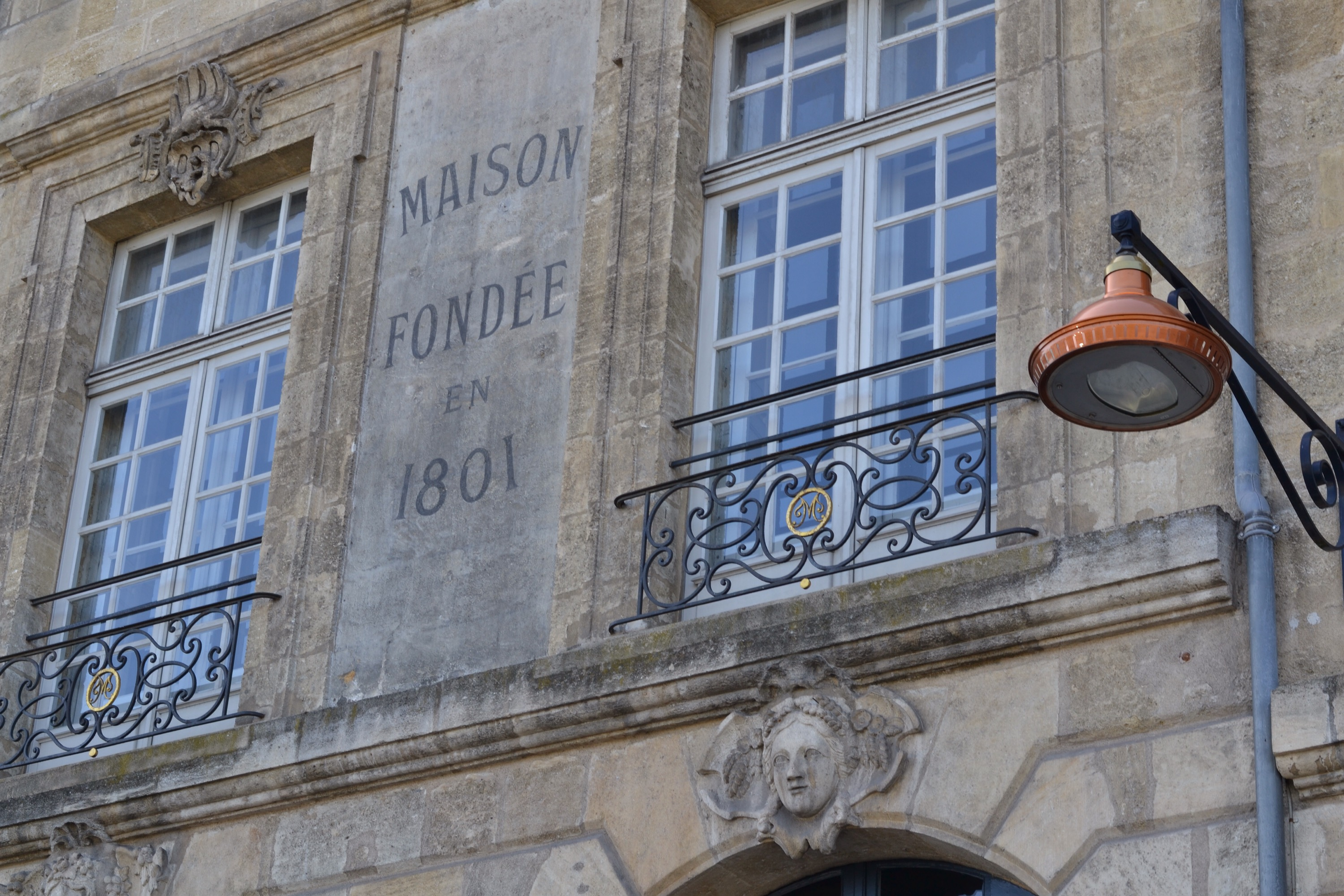 Maison Fondee en 1801. Building in Bordeaux, France
