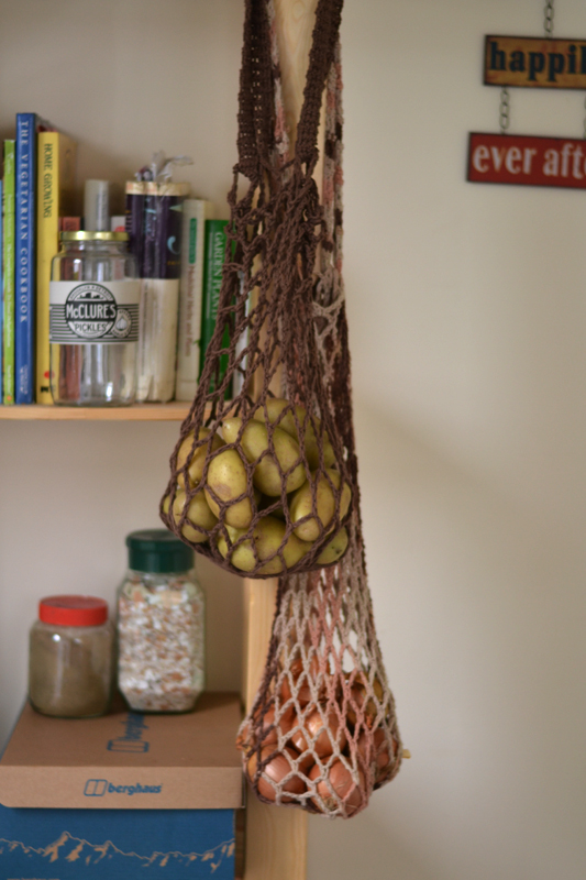 Crochet potato bag